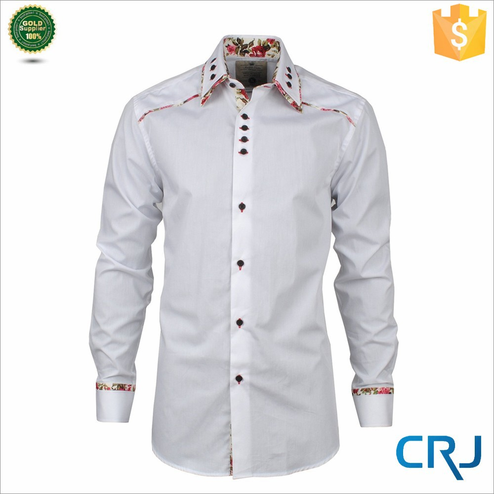 men 39 s double collar designer cotton dress shirts buy