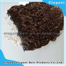 malaysian hair remy kinky curly micro loop hair extension
