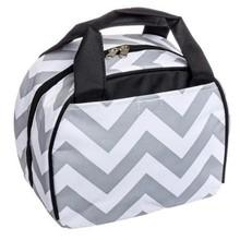 HD0559 Gray and White Chevron Print Bags Wholesale Lunch Tote Handbag Bag