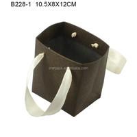 Customized Elegant Art Paper Jewelry Bag for Jewelry Box with Silk Ribbon B228-1