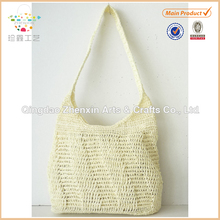 2015 ZHENXIN new designed handmade paper crochet shoulder bag for women