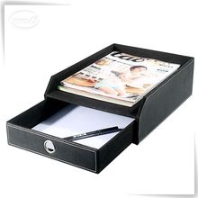 Hot sale office PU leather document tray