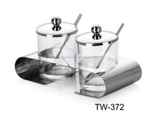Stainless steel cruet stand set