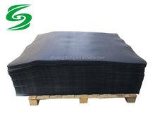black HDPE plastic slip sheet pallet for push/pull attachment