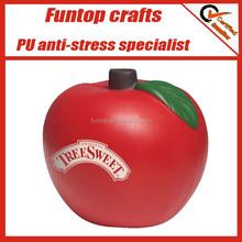 PU foam apple shaped fruit stress balls