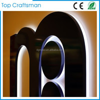 Waterproof Stainless steel led backlit signs Outdoors Illuminated Channel Letters