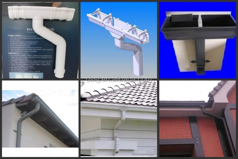 Pvc Square Gutter Gutters Roofing Pvc Rain Gutter Pipe