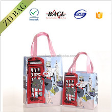 PVC reusable gift bags sturdy shopping bag for gift