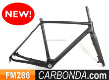 toray carbon fiber size 48cm carbon cyclocross frame with disc brake