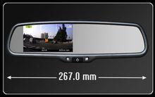 car rearview mirror dvr dual camera bluetooth
