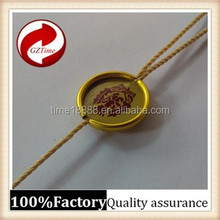 Cheap high-grade environmental protection non-toxic gilt metal plastic seal tag /plastic string tag c string thong pictures