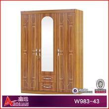 W983-43 wooden wardrobe /bedroom wardrobe designs/wooden cupboard in bedroom