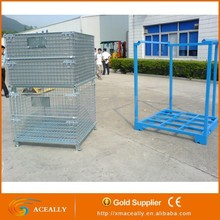 collapsible galvanized steel storage wire mesh cage