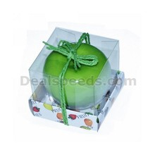 Hot Sale Style Christmas Red Green Apple Candles Decorations
