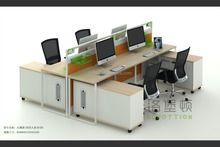 4 persons thin call center cubicles office workstations design I style
