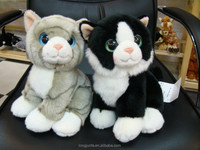 Plush toy cat lifelike fake furry sleeping cat that looks real plush toy