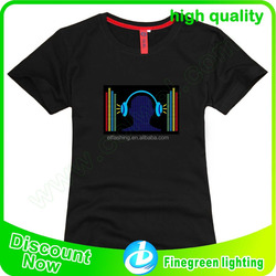 newest led t-shirt, led sound activated shirt