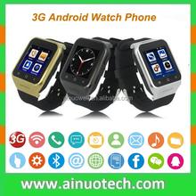 """Wifi GPS Smart Watch Phone 3G MTK6572 Dual Core 1.2GHz 1.55"""" touch screen 5.0M camera"""