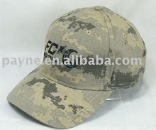 Desert designed army cap with polyester lining