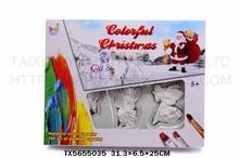 Prezzo all'ingrosso giocattoli educativi per bambini fai da te pittura colorata angelo di natale