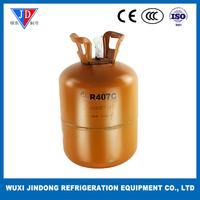 Purity 99.99% refrigerant gas R407C, refrigerant of air conditioner