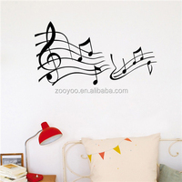 ZOOYOO Musical diatonicism stickers red and black tune room decals wonderful diatonic scale vinyl wallpapers (8317)