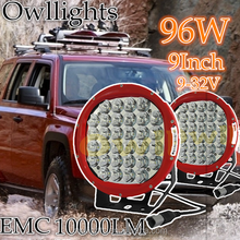 4x4 accessories, Super bright 96 watt led driving light ,led driving lights round 9 inch for off road