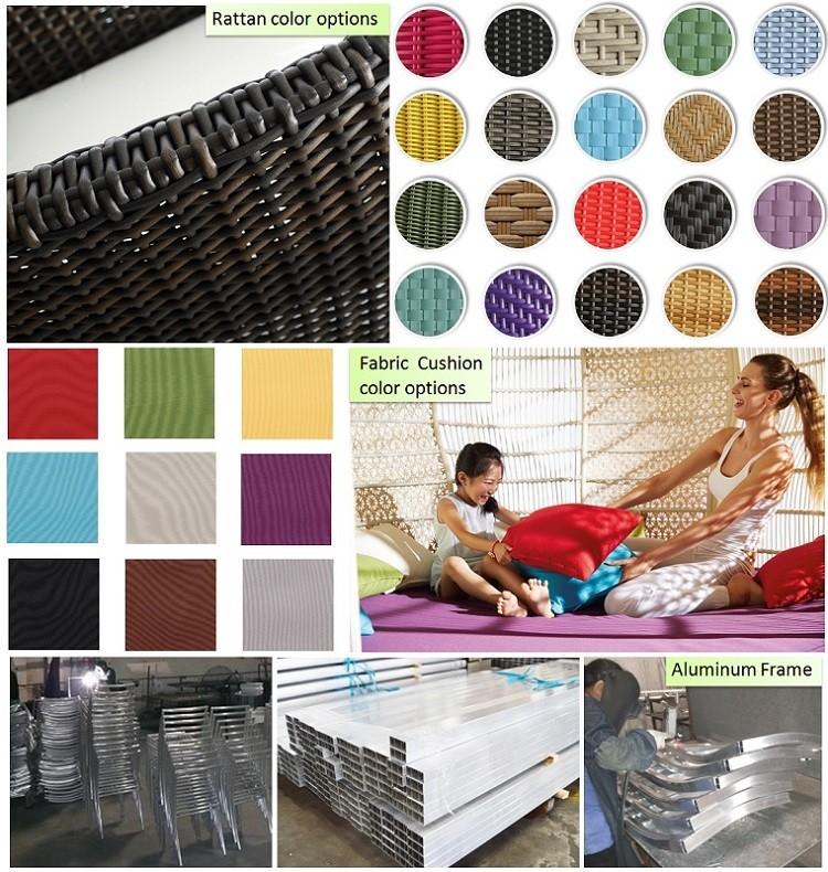 vente chaude ronde en rotin m ridienne avec auvent en. Black Bedroom Furniture Sets. Home Design Ideas