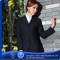 anti-static new style polyester/cotton protective royal blue suits for women