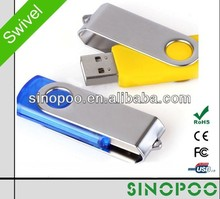 Classical & Simple Twister USB Flash Drive, Swivel USB Flash ,Free Sample & Logo