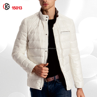 Handsome collar jackets winter short slim jacket high quality polyster coats