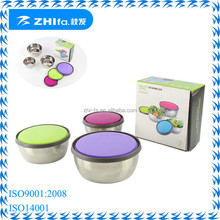 New colorful stainless steel metal wedding gift item food container