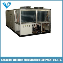 Commercial rooftop installation chilled water air handling unit