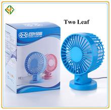 nueva llegada mini usb ventilador de dos hoja de acondicionador de aire