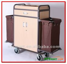 Multi-purpose Hotel Housekeeping Maid Cart Trolley/wood housekeeping carts/Housekeeping cleaning trolley service carts