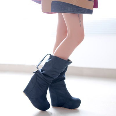 ENMAYER New 2014 Autumn And Winter Fashion Mid-Calf Women's Wedges