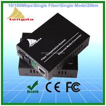 10/100M 20KM Single Fiber Single Mode Fiber optical Media converter