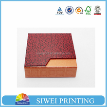 2015 Made in China Factory Professional red paper jewelry box & paper gift box & paper packaging box for earrings
