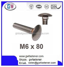 Stainless Steel Coach Bolts,Carriage Bolt Stainless Steel, Cup Square Head Bolt