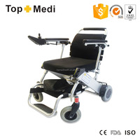 Topmedi medical equipment outdoor deluxe folding handicapped hot sales power wheelchair motor