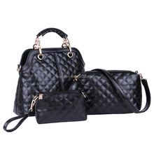 Summer 2015 European and American fashion quilted handbags with three pieces set (BTD5007)