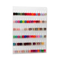Clear Acrylic 6 Layers Acrylic Nail Polish Wall Display Rack