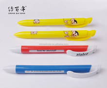 Advertising click ball pen with window