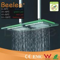 led raining shower head(bathroom led shower head,led top shower)