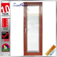 Anti-theft wood coated single door design of new arrival