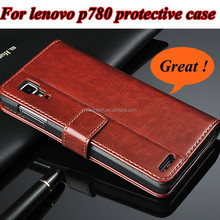Wholesale High Quality Flip Genium Leather Stand Phone Case for Lenovo P780