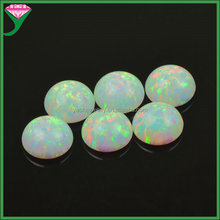 price of lab created round cabochon flat back white opal gemstone
