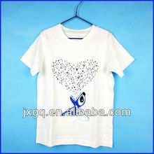 Hot sales OEM service high quality white t shirt wholesale china 100 cotton remove print baby t shirt