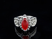 Wholesale silver rings , garnet accessories for women, crystal rings