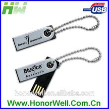 Full Capacity Metal Rotation USB Flash Drive With Free Sample